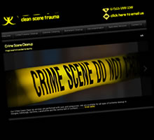 Glasgow Website Design - Cleanscene Trauma